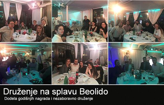 WEBCENTRIC druženje na splavu Beolido
